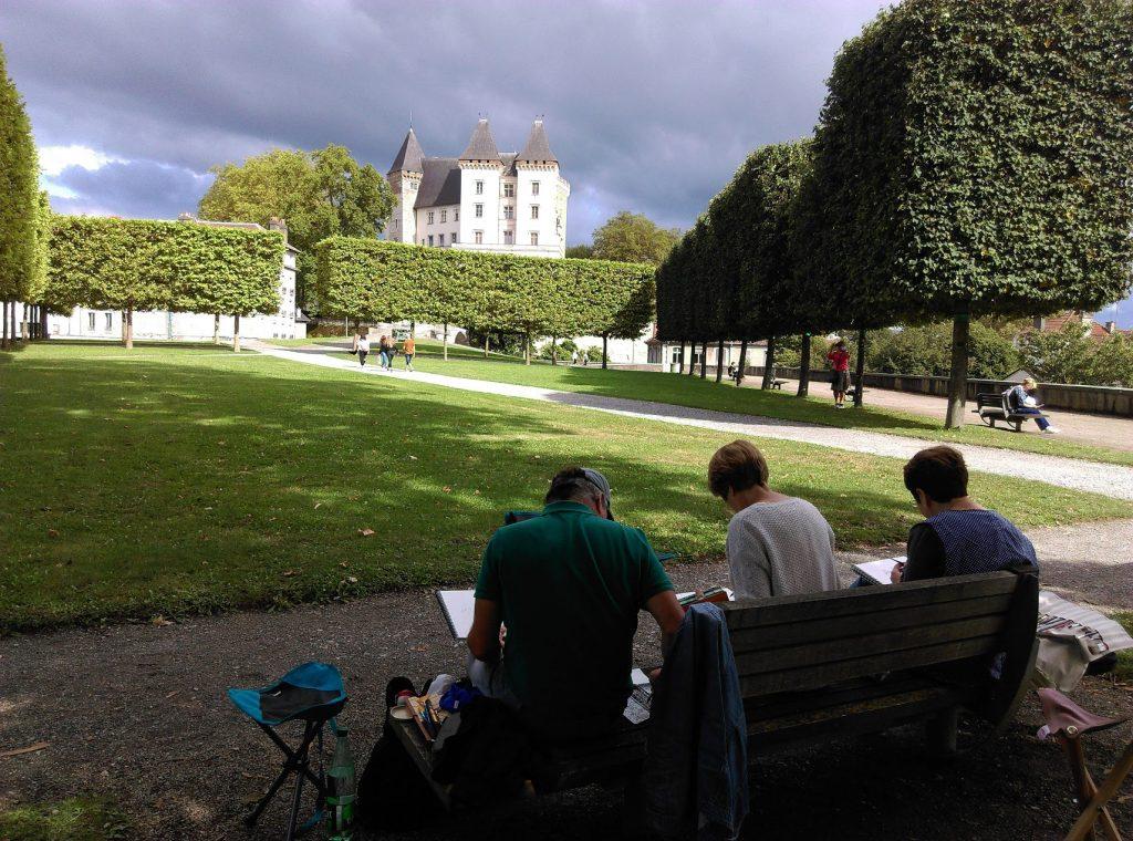 Dans le parc du château de Pau, photo