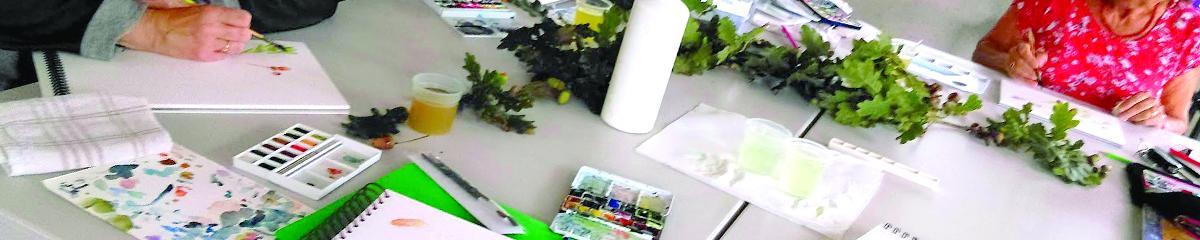Bandeau de la photo de peinture à l'aquarelle en salle à Lescar
