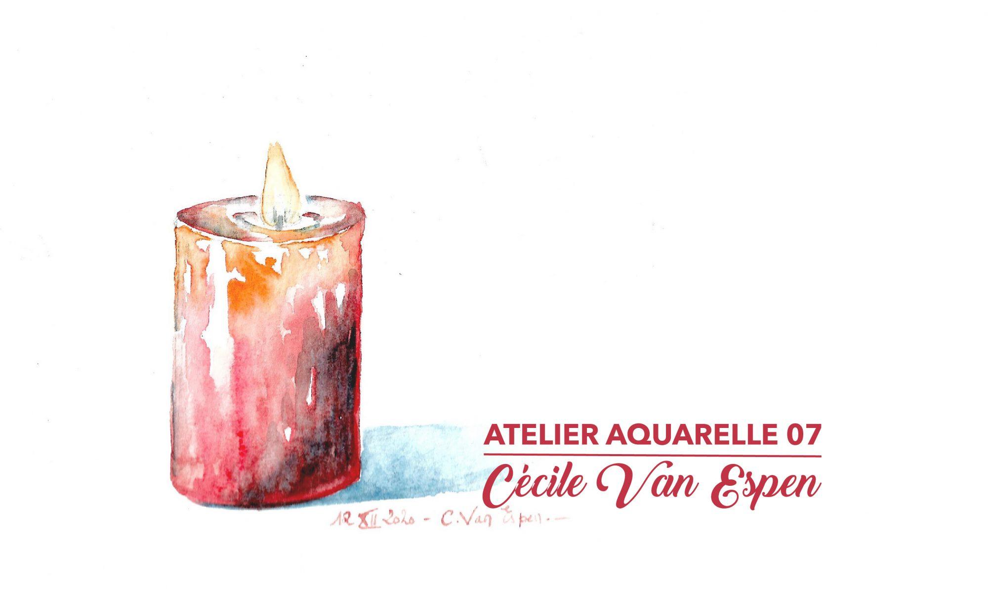 Bougie, Page de couverture du tuto Atelier Aquarelle 07 : Bougie