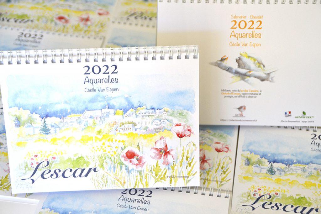 Lescar 2022 : calendrier chevalet de Lescar