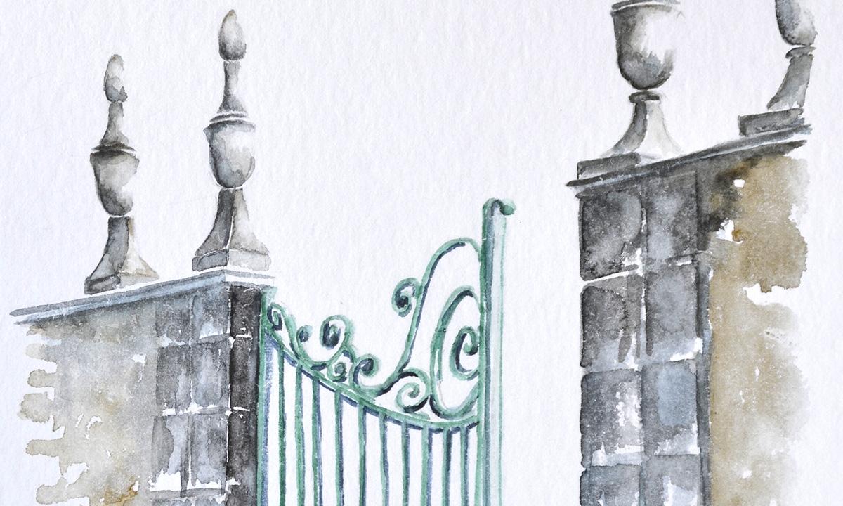Atelier cours stage, détail d'un portail traditionnel