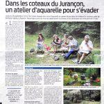 Dans les médias : article présentant l'atelier dans les coteaux du Jurançon, domaine Vignau